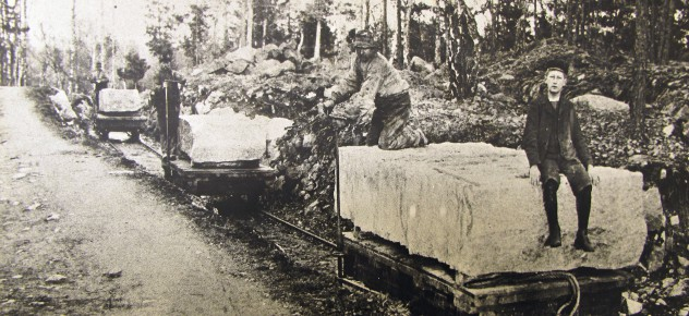 Rallvägarna were used to transport stone.
