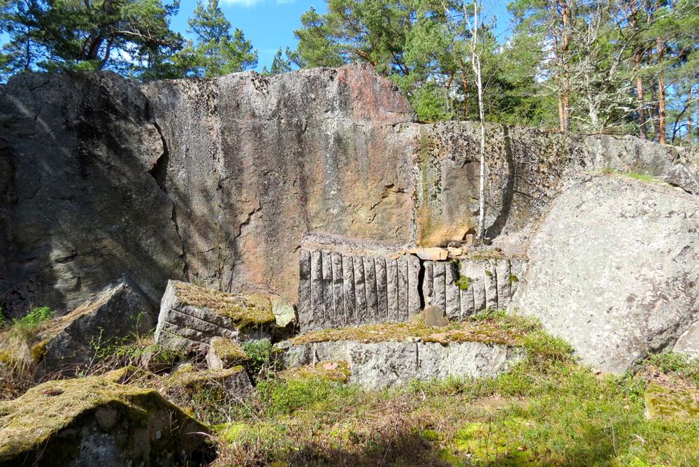 Stora stenbrottet på Näset.